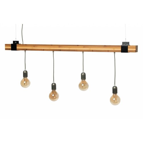 Plus 31 Dutch Lamp Design Hanglamp massief bamboe 100