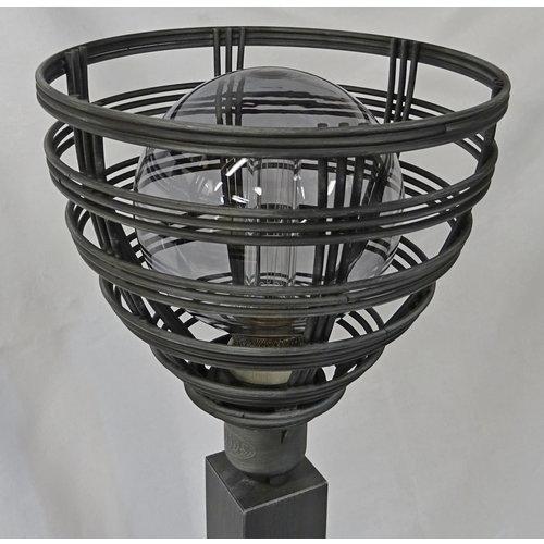 Tafellamp Molfetta draadlamp grijs