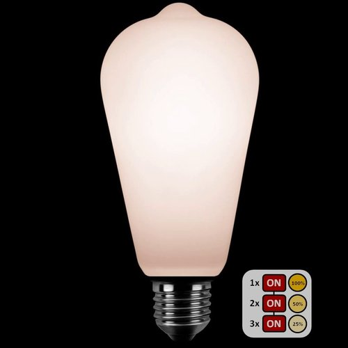 ETH Lichtbron LED  Edison ST64 SceneSwitch Opaal