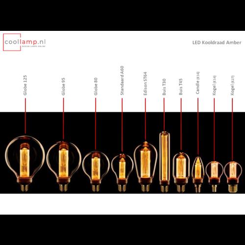 ETH Lichtbron LED Kooldraad Kogel 2.3W Amber