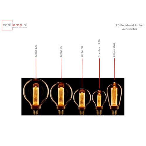 ETH Lichtbron LED Kooldraad Globe 95 SceneSwitch Amber