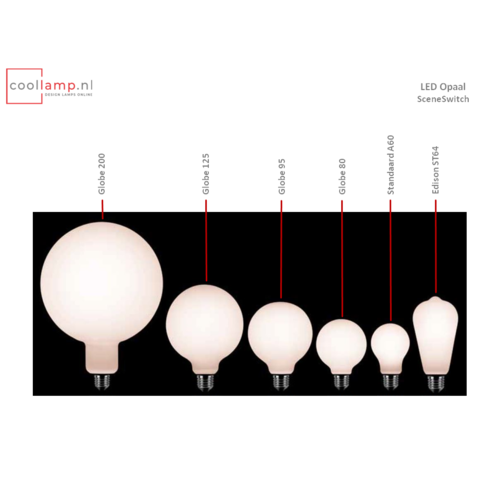 ETH Lichtbron LED Globe 125 SceneSwitch Opaal