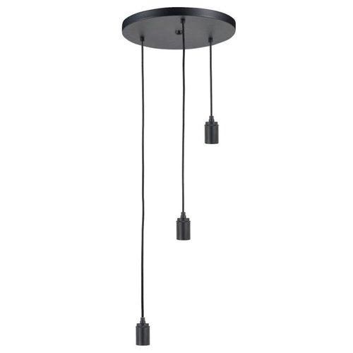 High Light Pendel 3 lichts zwart metaal Bellagio smoke