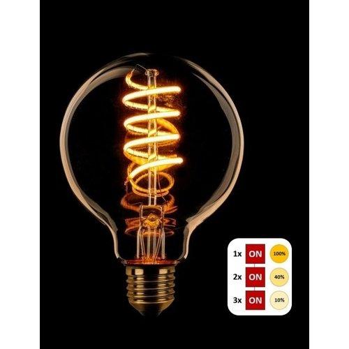 ETH Lichtbron LED Spiraal Kooldraad Globe 80 SceneSwitch Amber
