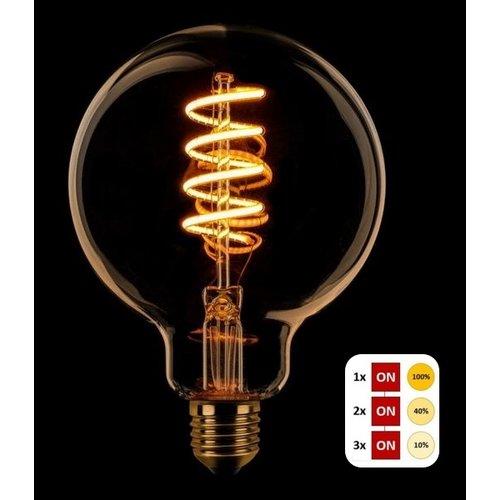ETH Lichtbron LED Spiraal Kooldraad Globe 95 SceneSwitch Amber