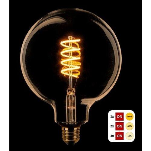ETH Lichtbron LED Spiraal Kooldraad Globe 125 SceneSwitch Amber