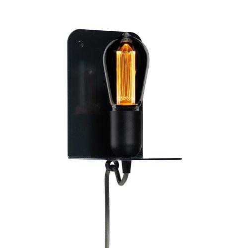 Plus 31 Dutch Lamp Design Wandlamp staal Hunze Edison