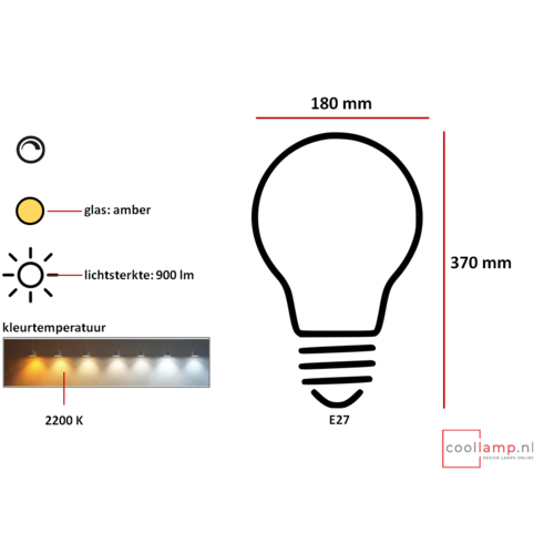 ETH Lichtbron LED Kooldraad Zeppelin 8.0W Staaf Amber