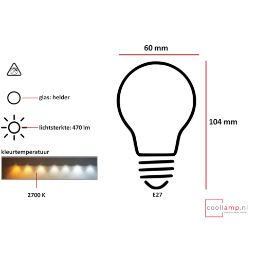 Philips Lichtbron Philips Classic LED bulb A60 4W