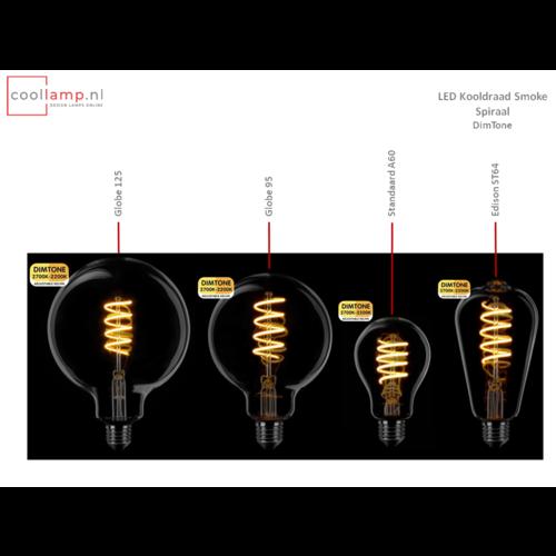 ETH Lichtbron LED Kooldraad Spiraal Globe 125 DimTone Smoke