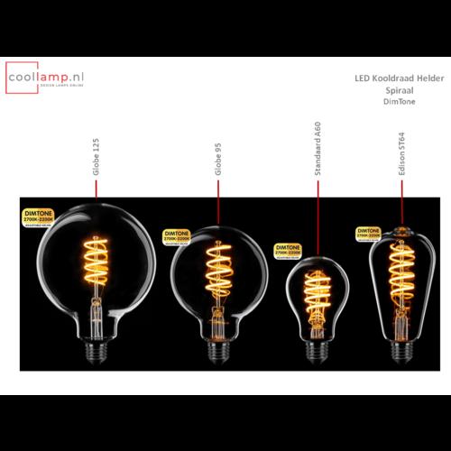 ETH Lichtbron LED Kooldraad Spiraal Globe 125 DimTone Helder