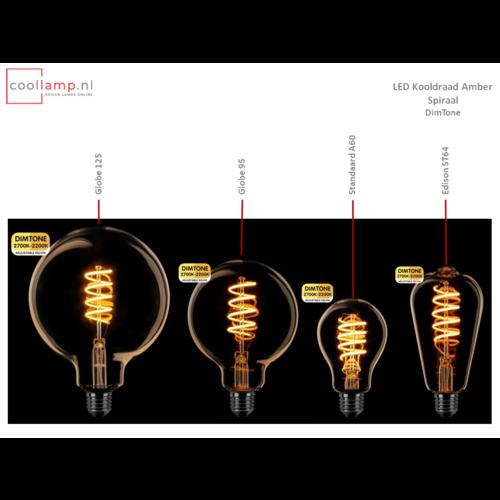 ETH Lichtbron LED Kooldraad Spiraal Globe 125 DimTone Amber