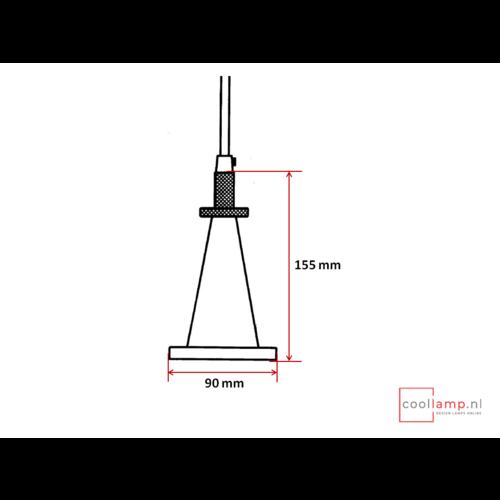 Pendel Cone metaal zwart