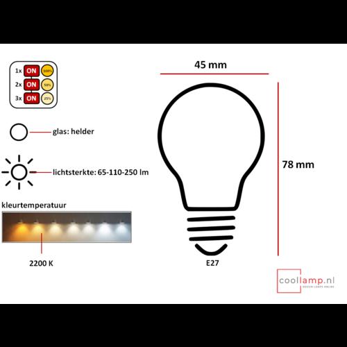 ETH Lichtbron LED Kooldraad Spiraal Kogel SceneSwitch Helder