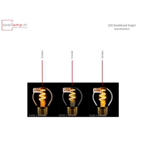 ETH Lichtbron LED Kooldraad Spiraal Kogel SceneSwitch Amber