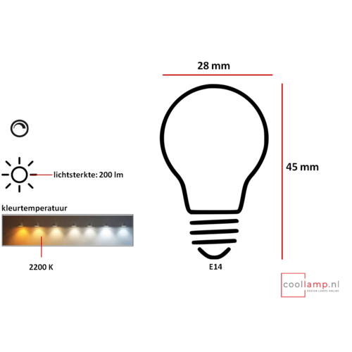 ETH LED PUCC Dimmable E14
