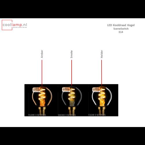 ETH Lichtbron LED Kooldraad Spiraal Kogel SceneSwitch Amber E14