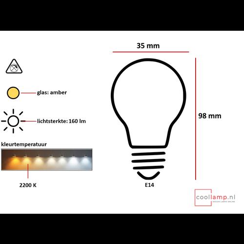 ETH Lichtbron LED Kooldraad spiraal Kaars 2.3W Amber E14