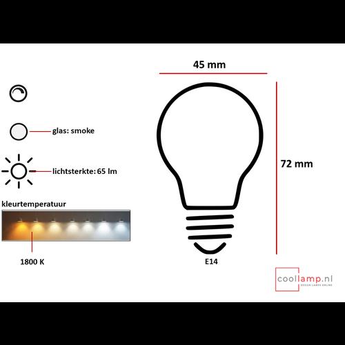 ETH Lichtbron LED Kooldraad Kogel 2.3W Smoke E14