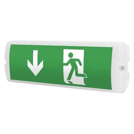Emergency lighting wall surface