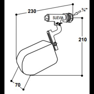 Suevia Vlotter voor hoge druk Model 674
