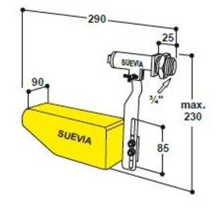 Suevia Vlotter model 738 lage druk geel