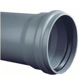 PVC drain pipe gray with cuff sleeve SN 8 (l=5 meter)