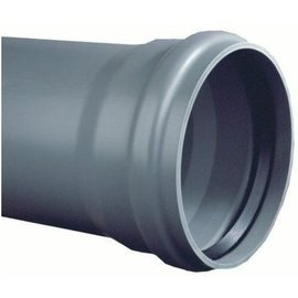 PVC Afvoerbuis grijs SN 8 manchetmof (l=5meter)