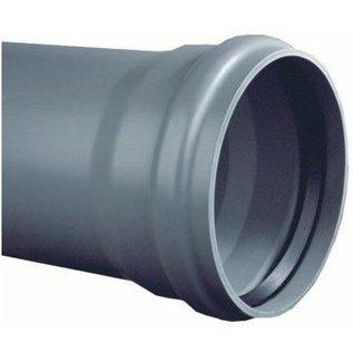 PVC-Abflussrohr grau mit Manschette SN8 L=5m