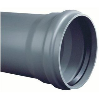 PVC Drain pipe gray with cuff sleeve SN8 L=5m