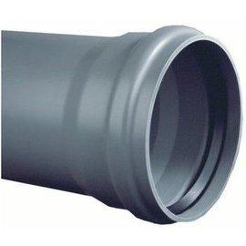 PVC Afvoerbuis grijs SN 4 manchetmof (l=5 meter)