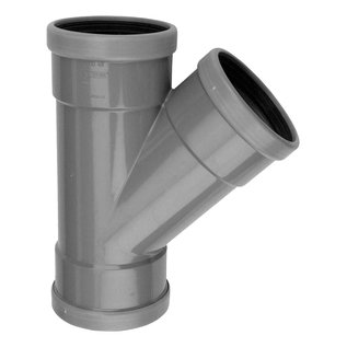 PVC RM-T-stuk 45° SN4 M/M/M
