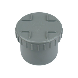 PVC L-Eindstuk + Schroefdeksel
