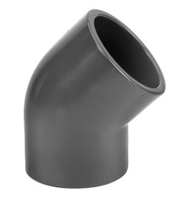 PVC Press Knee 45° PN16 2 x M