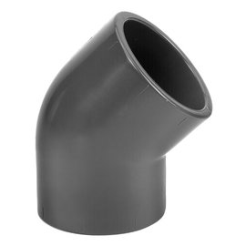 PVC Druk Knie 45° PN16 2 x M