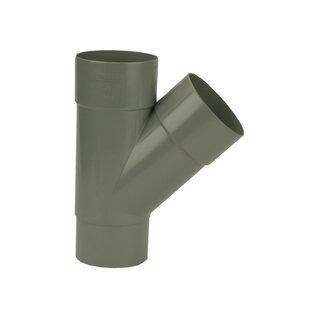 PVC HWA T-stuk 45° 2xmof/verj. spie-eind grijs