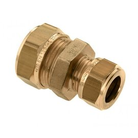 Straight reducer coupling 2 x Compression