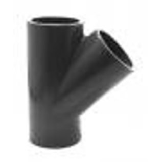 PVC Druk T-stuk 45° 3 x M PN16