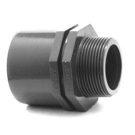 PVC druk puntstuk spie-mof/buitendraad