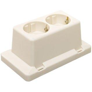 ABB Dubbele wandcontactdoos voor lasdoos 3611