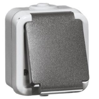 PEHA WCD 1V (enkel) grijs slagvast spatwaterdicht