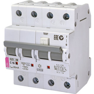 ETI Aardlekautomaat C 20A 4P (3p+n)