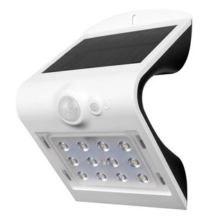 LED Solar Wall Lamp Black 1.5 Watt 4000K with motion sensor