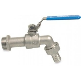 Stainless steel tap ball valve with hose connection