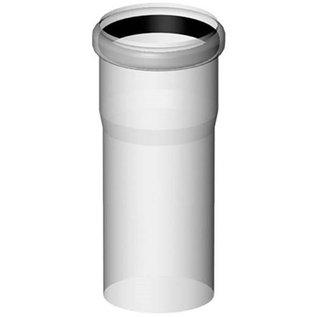 Buho safe-PP Rookgaspijp 80mm l=1000mm wit