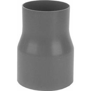 PVC HWA verloopsok 100 x 80mm uit buis gevormd