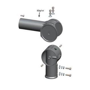 Led straatlamp adaptor verstelbaar tot 90gr.