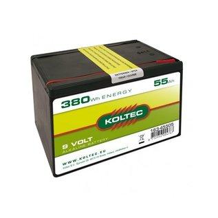 Batterij 9 Volt KOLTEC, 380Wh 55Ah, Alkaline