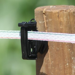Lint, wit 200 mtr KOLTEC 12,5 mm, 0,28 mm PE + 3*0,20 RVS/INOX, breekkracht 60 kg, weerstand 7,75 Ohm/mtr