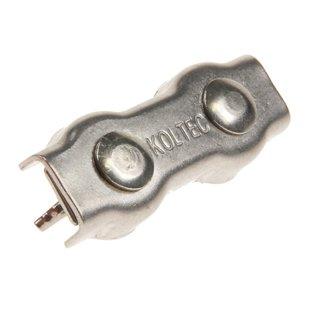 Verbinders voor koord tot 8 mm, RVS/INOX, met vleugelmoeren KOLTEC